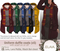 .Elaia. Uniform sweater .w/ duffle coat{Maitreya} 4 houses