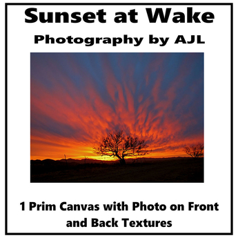 Box,Sunset at Wake (canvas)