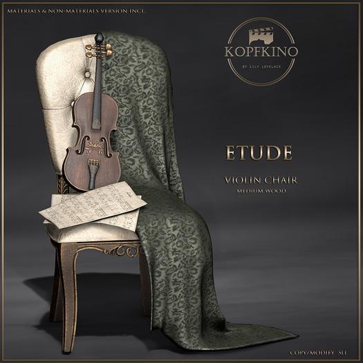 KOPFKINO - Etude Violin Chair (Medium wood)
