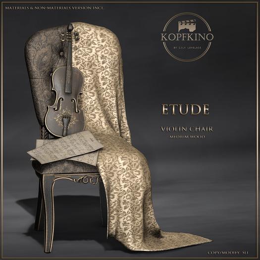 KOPFKINO - Etude Violin Chair (Dark wood)