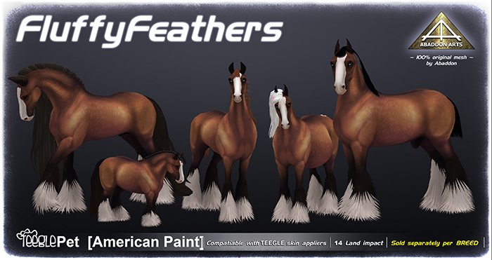 ABADDON ARTS -  Fluffy Feathers I [Teeglepet APH]