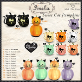 {Imeka} Sweet Cat Pumpkins - Type 1 - SET RARE