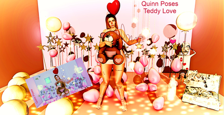 Quinn Poses Teddy Love