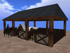 RE Pole Barn Horse Stall - Western/Old West Stable for Pony