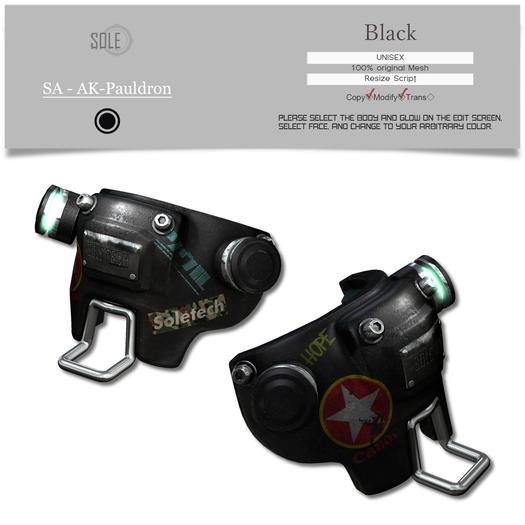 :::SOLE::: SA - AK-Pauldron (Black)