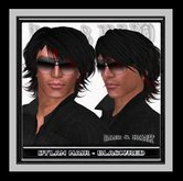 @ ! Bliss Designs ~ Dylan HIGHLIGHTS ~ Hair ~ Black / Red  ~ With Resizer ~ Sexy Stylish Men's Hair