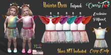 *Cherry Tot* Youth/Chonk Unicorn Dress FATPACK (Wear&Click)