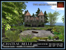 TMG - CHATEAU BELLE - SUMMER VERSION* Fairy tale Castle Furnished with  255 Animations