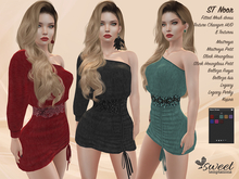 ST :: Noor Dress for Maitreya Lara (P), Slink ( H, HP), Belleza (I, F), Legacy (P) and Kupra. 8 Tex HUD.