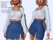 byCrash Full perm mesh-Skirt and crop blouse