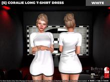 [S] Coralie Long T-Shirt Dress White