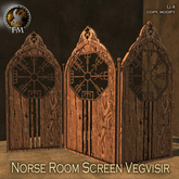 F&M * Norse Room Screen Vegvisir - Medieval Viking style