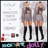 RD - Lola - Sweater Dress and Scarf - Multi Pack DEMO