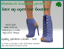 <SB>Open toe lace up booties -spring 2021 - preview