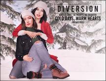 Diversion - Cold Days, Warm Hearts // Bento Friends Pose