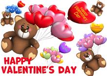 [ FULL PERM ] Balloon BEAR / Happy Valentine's day & Anniversary