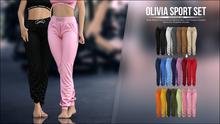 [Kauston] Olivia Sport Set - Pants (Dark Red)