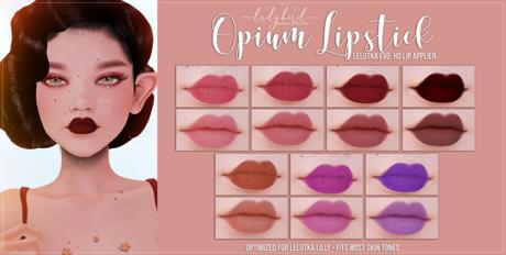 Ladybird. // Opium Lipsticks