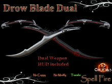 TSC Drow Blade Dual  SpellFire scripted sword spell fire roleplay Dual sword weapon combat