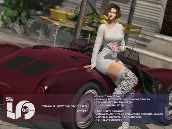 ACT5-595-Female Sitting on Car 2 Pose BOXED