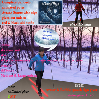 The Complete unisex ski outfit with animated ski-BOX
