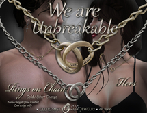 """""""We are Unbreakable"""" - Entwined Rings - HERS"""