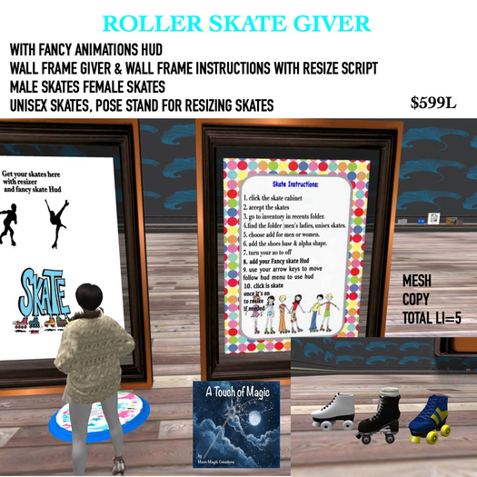 FRAMED VERSION-The Ulltimate roller skate giver with fancy hud-
