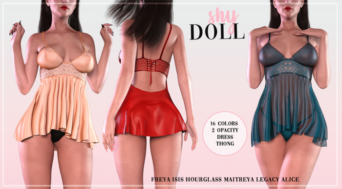 Shydoll - Lilly Dress & Panties FATPACK