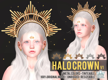 HALO CROWN v1 - WHITE QUEEN