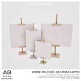 Atelier Burgundy . Modern Easel Floor . Gold Bronze *ADD*