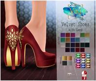 .Viki. Velvet Shoes with Gems