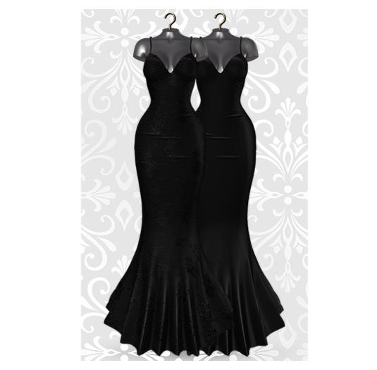 MAAI Rose gown * Lara&Legacy&Kupra * Black