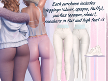 Lunar - Lamu Panties & Leggings & Shoes - White