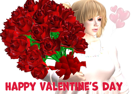 Happy Valentine's day! 50 roses with pose