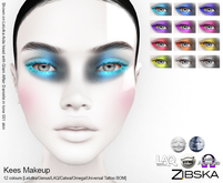 Zibska ~ Kees Makeup with Lelutka, Genus, LAQ, Omega, Catwa appliers and Universal Tattoo/BOM layers
