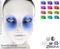 Zibska ~ Seven89 Makeup in 12 colors with Lelutka, Genus, LAQ, Catwa and Omega appliers and tattoo layers