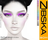 Zibska BOM Pack ~ Gia Eyemakeup with tattoo and universal tattoo BOM layers