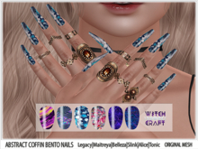 [WitchCraft] Abstract Bento Coffin Nails