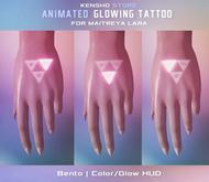 Animated  Glowing Tattoo -  Triforce (Legacy F, Maitreya, Jake)