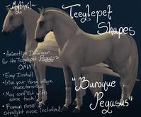 ~Mythril~ Teeglepet Shape: Baroque Pegasus (TPet Pegasus ONLY)