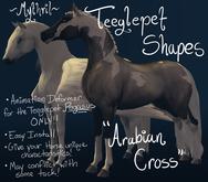 ~Mythril~ Teeglepet Shapes: Arabian Cross (TPet Pegasus ONLY)
