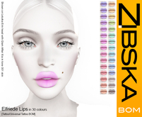 Zibska BOM Pack ~ Elfriede Deux Lips in 30 colors with tattoo and universal tattoo BOM layers