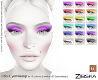 Zibska ~ Choi Eyemakeup in 18 colors for Lelutka HD