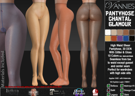 VANNIES Pantyhose Chantal Glamour (Applier-HUDs) w. Materials (beautifull glossy and shiny effect)