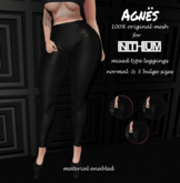 <Agnes> -Mixed/Tipe Kupra Leggings BLACK