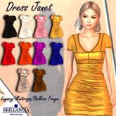 BRILLANCIA- DRESS JANET BEIGE