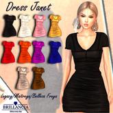 BRILLANCIA- DRESS JANET BLACK