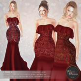.:FlowerDreams:.Ember Gown - red