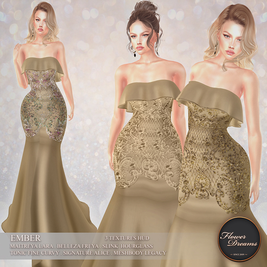 .:FlowerDreams:.Ember Gown - gold