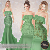 .:FlowerDreams:.Ember Gown - sea green